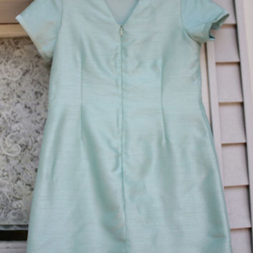 Mint Dress, Vintage Shift Dress