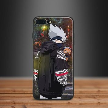 Naruto Sasauke ninja Kakashi Hatake  Fashion Trend Street style Tpu Soft Silicone Phone Case shell For Apple IPhone 5 5s SE 6 6s 7 8 Plus X 10 AT_81_8