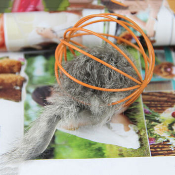 Fun False Mouse In Rat Cage Ball Cat Toy