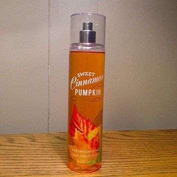 SHIP BY USPS Bath & Body Works Sweet Cinnamon Pumpkin Fine Fragrance Mist 8oz. NEW VERSION! FRESH!!