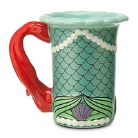 disney parks the little mermaid princess ariel dress ceramic coffee mug new