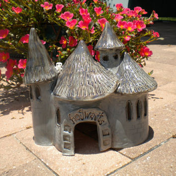 Hogwarts Castle Kiln Fired Clay Pet House