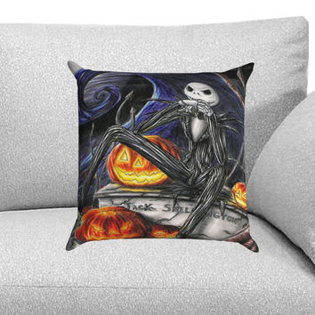 Jack Skellington Nightmare Before Chrismast Custom Pillow Case for One Side and Two Side