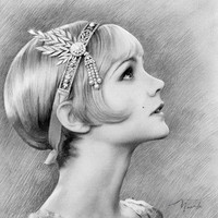 Pencil drawing. The Great Gatsby. Sketch Portrait. Digital format. Digital download. JPG 10x10.3 in ready to print.