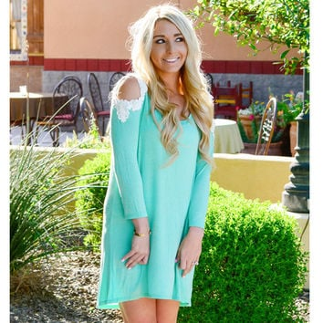 Cut-Out Long Sleeve Mini Dress in Pink Purple or Green