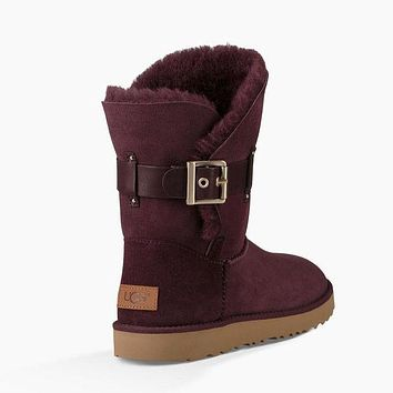 UGG women's fashion tide brand trendy winter fur boots shoes F