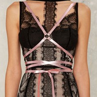JAKIMAC Infinity Leather Harness - Pink