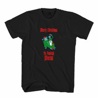 Home Alone Haunted Mansion Foolish Mortals Disney Disney Christmas Disney Christmas Man's T-Shirt