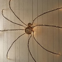 Lit Twig Oversized Spider