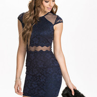 Mesh Insert Lace Dress, NLY One