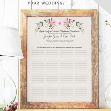 Rustic Quaker Marriage Certificate  From Missdesignberryinc On