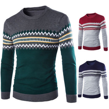 Mens Trendy Pullover Sweater