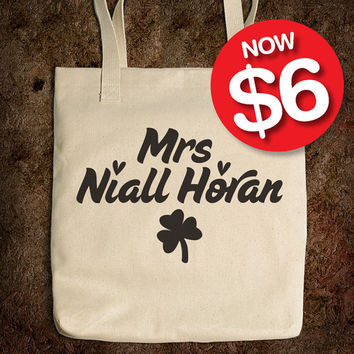 Cotton Tote Bag - Mrs Niall Horan - One Direction - (Accessories Laptop Bag PC Apple Macbook Mac Geekery)