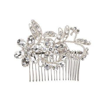 Damask Comb Crystal Silver