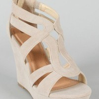 Lindy-66 Strappy Platform Wedge