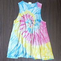 rainbow tie dye for shift dress