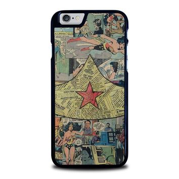 wonder woman collage iphone 6 6s case cover  number 1