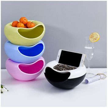 Plastic Storage box Creative Bowl Shape container Perfect For containing Seeds Nuts&Dry Fruits mobile phone support 2017 new