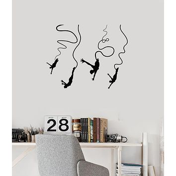 Vinyl Wall Decal Bungee Jumping Extreme Sports Teenage Room Art Stickers Mural (ig6035)