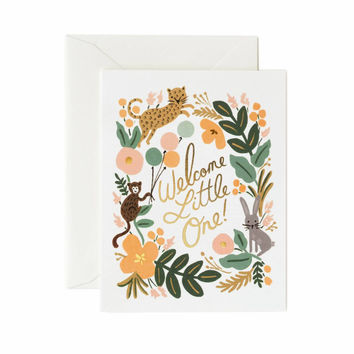 RIFLE PAPER MENAGERIE BABY CARD