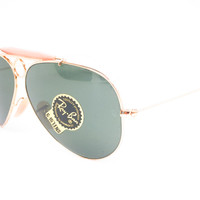 Ray-Ban RB 3138 Shooter 001 Gold Sunglasses