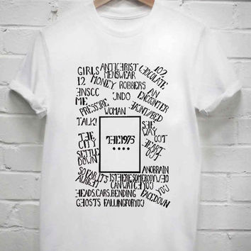 Custom Tshirt the 1975 Albums music screenprint
