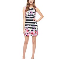 Daria Floral Print Ponte Dress by Juicy Couture