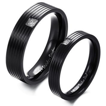Korean Accessory Stylish Fashion Simple Design Titanium Couple Jewelry [11676768399]