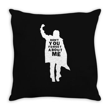 don't you forget about me 80's party music retro Throw Pillow