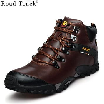 Road Track Men Snow Boots Waterproof Men Footwear Winter Ankle Boots Fur Breathable Men Winter Shoes 5 Colors