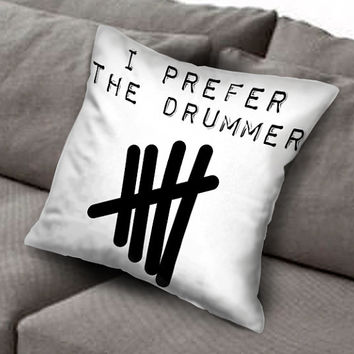 i prefer the drummer 5sos pillow case, Custom Square Pillow Case popular