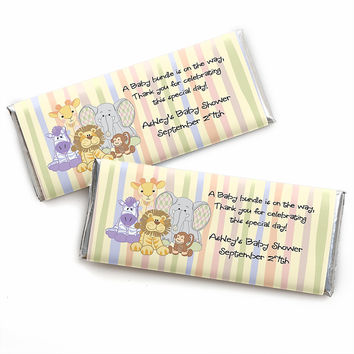Zoo Crew - Personalized Baby Shower Candy Bar Wrapper Favors