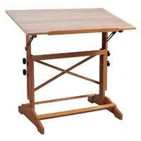 "Alvin Pavillon Art and Drawing Table Unfinished Wood Top 31"" x 42"""