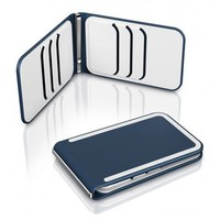 Dosh 6 Card Lux Desmopan Rubber Bifold Stainless Steel Money Clip Wallet