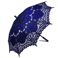 Lace Parasol Navy Blue Sun Parasols and Umbrellas