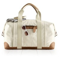 Canvas with Leather Weekender Bag