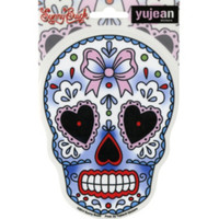 Heart Bow Sugar Skull Sticker