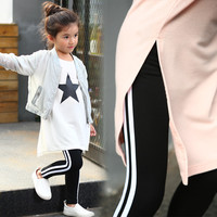 2017 Little Girls Pants Baby Girls Leggings Toddler Leggings Sports Costume Birthday Gift Kids Pants Trousers 7 9 11 12 13 14 T