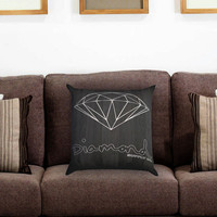 White Diamond Supply Co Dark Wood Pillow Cover , Custom Zippered Pillow Case One Side Two Sides