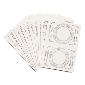 Kitchen Papers by Cake 'Perfect Seating' Place Cards (Set of 12)