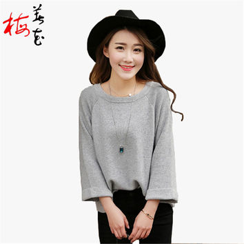 Cashmere sweater pullover women Loose jumper top designer sweater women wool sweater O Neck Knitwear short femme sueter pull