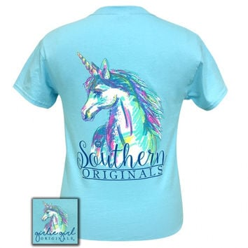 Girlie Girl Originals Preppy Watercolor Unicorn T-Shirt