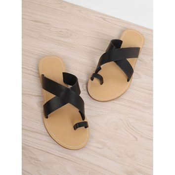 Criss Cross Slide Sandals