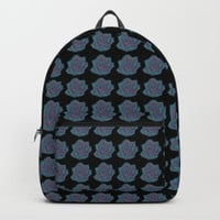 Turquoise Rose Backpack by drawingsbylam