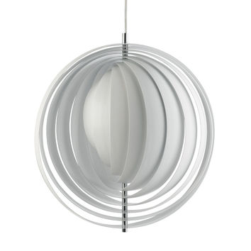 Moon Pendant Light - White