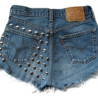 "ALL SIZES ""Studded Paradise"" High Waist Shorts from Romani Rose"