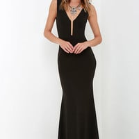 Party Calendar Black Maxi Dress