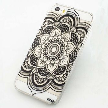 Henna Full Mandala Tribal Floral Dream Catcher Case Cover for iPhone 5C