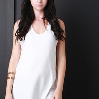 Soft Knit Sleeveless Hoodie Top