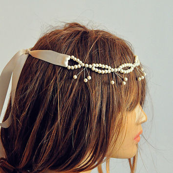 Wedding bridal headband, Pearl, hairband, wedddings, Hair Accessory, hair accessories, Headpieces, headpiece, gift ideas, etsy, women